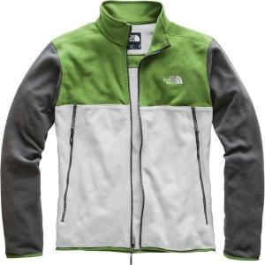 【当日出荷】 ノースフェイス メンズ Glacier Alpine Fleece Jacket - Men's High Rise Grey/Garden Green/Asphalt Grey 【サイズ XXL】 asty-shop2
