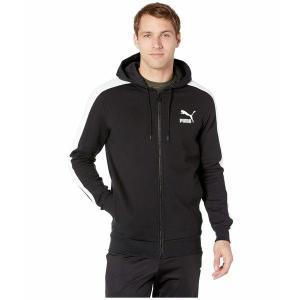 【当日出荷】 プーマ メンズ Classics T7 Logo Full Zip Hoodie Fleece PUMA Black 【サイズ L】 asty-shop2