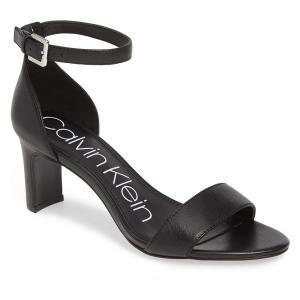 【当日出荷】 カルバンクライン レディース Calvin Klein Carrie Ankle Strap Sandal (Women) Black Leather 【サイズ 5.5-m】 asty-shop2