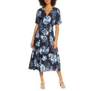【当日出荷】 フレンチコネクション レディース French Connection Caterina Floral Chiffon Midi Dress Utility Blue Multi 【サイズ 4】 asty-shop2