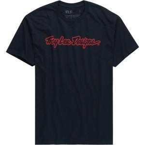 トロイリーデザイン Tシャツ メンズ トップス Signature T-Shirt - Men's Navy astyshop