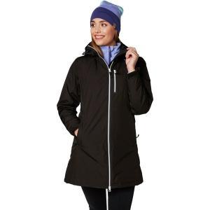 ヘリーハンセン ジャケット・ブルゾン レディース アウター Long Belfast Winter Insulated Jacket Black|astyshop