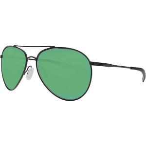 コスタ サングラス・アイウェア メンズ アクセサリー Piper 580P Polarized Sunglasses Shiny Black Frame/Green Mirror|astyshop