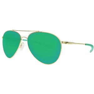 コスタ サングラス・アイウェア メンズ アクセサリー Piper 580P Polarized Sunglasses Shiny Gold Frame/Green Mirror|astyshop