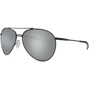 コスタ サングラス・アイウェア メンズ アクセサリー Piper 580P Polarized Sunglasses Shiny Black Frame/Gray Silver Mirror|astyshop