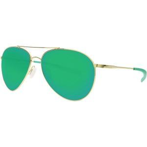 コスタ サングラス・アイウェア メンズ アクセサリー Piper 580P Polarized Sunglasses Velvet Silver Frame/Green Mirror|astyshop