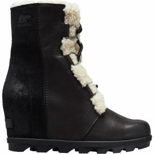 ソレル ブーツ&レインブーツ レディース シューズ Joan of Arctic Wedge II Shearling Boot - Women's Black astyshop
