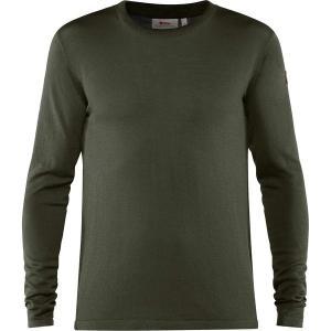 フェールラーベン Tシャツ メンズ トップス High Coast Lite Merino Knit Top - Men's Deep Forest astyshop