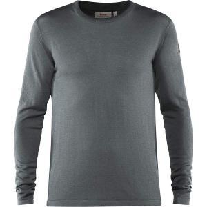 フェールラーベン Tシャツ メンズ トップス High Coast Lite Merino Knit Top - Men's Thunder Grey astyshop