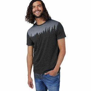 テンツリー シャツ メンズ トップス Juniper T-Shirt - Men's Meteorite Black Heather|astyshop