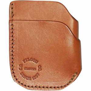 フィルソン 財布 メンズ アクセサリー Front Pocket Cash & Card Case - Men's Tan Leather|astyshop