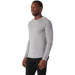 スマートウール Tシャツ メンズ トップス Merino 150 Long-Sleeve Baselayer - Men's Light Gray Heather astyshop