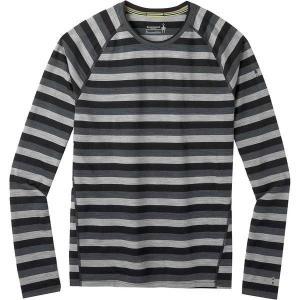 スマートウール Tシャツ メンズ トップス Merino 150 Long-Sleeve Baselayer - Men's Iron Stripe astyshop