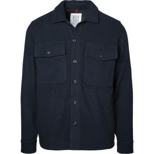 トポ・デザイン シャツ メンズ トップス Wool Shirt - Men's Navy|astyshop