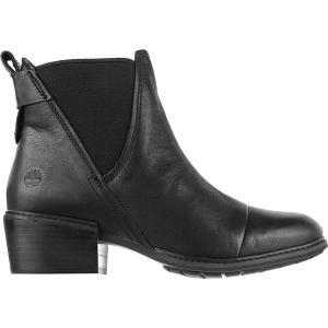 ティンバーランド ブーツ&レインブーツ レディース シューズ Sutherlin Bay Double Gore Chelsea Boot - Women's Black Full Grain astyshop