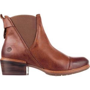 ティンバーランド ブーツ&レインブーツ レディース シューズ Sutherlin Bay Double Gore Chelsea Boot - Women's Medium Brown Full Grain astyshop