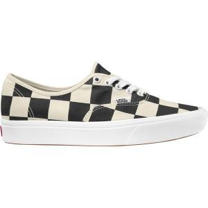バンズ スニーカー メンズ シューズ Comfycush Authentic Shoe (Half Big Checker) Black/Red astyshop