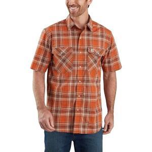 カーハート シャツ メンズ トップス TW171 RF Relaxed Fit Plaid Shirt - Men's Harvest Orange|astyshop