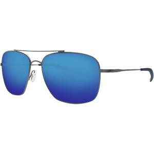 コスタ サングラス・アイウェア メンズ アクセサリー Canaveral 580P Polarized Sunglasses Blue Mirror 580p/Brushed Gray Frame|astyshop