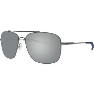 コスタ サングラス・アイウェア メンズ アクセサリー Canaveral 580P Polarized Sunglasses Gray Silver Mirror 580p/Brushed Gray Frame|astyshop