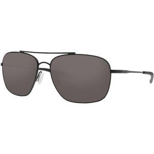 コスタ サングラス・アイウェア メンズ アクセサリー Canaveral 580P Polarized Sunglasses Gray 580P/Satin Black Frame|astyshop