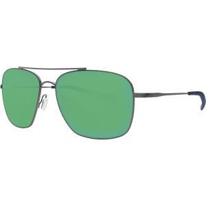 コスタ サングラス・アイウェア メンズ アクセサリー Canaveral 580P Polarized Sunglasses Brushed Gray Frame/Green Mirror|astyshop