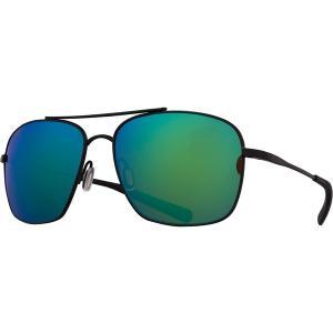 コスタ サングラス・アイウェア メンズ アクセサリー Canaveral 580P Polarized Sunglasses Satin Black Frame/Green Mirror|astyshop