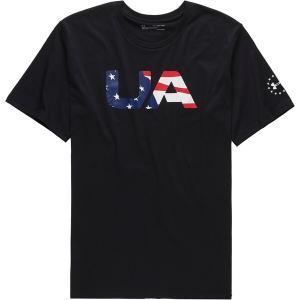 アンダーアーマー シャツ メンズ トップス Freedom BFL T-Shirt - Men's Black/White|astyshop