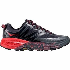 ホッカオネオネ スニーカー レディース シューズ Speedgoat 3 Trail Running Shoe - Women's Dark Shadow/Poppy Red astyshop