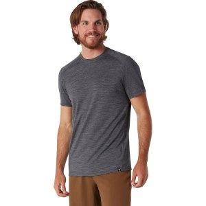 スマートウール シャツ メンズ トップス Merino Sport 150 Hidden Pocket T-Shirt - Men's Medium Gray Heather|astyshop