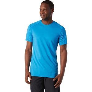 スマートウール シャツ メンズ トップス Merino Sport 150 Hidden Pocket T-Shirt - Men's Ocean Blue|astyshop