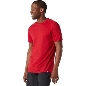 スマートウール シャツ メンズ トップス Merino Sport 150 Hidden Pocket T-Shirt - Men's Chili Pepper Heather|astyshop