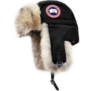 カナダグース 帽子 メンズ アクセサリー Aviator Hat Black astyshop
