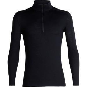 アイスブレーカー Tシャツ メンズ トップス 200 Oasis 1/2-Zip Top - Men's Black astyshop