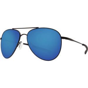 コスタ サングラス・アイウェア メンズ アクセサリー Cook 580P Polarized Sunglasses Satin Black Blue Mirror 580p|astyshop