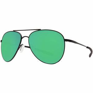コスタ サングラス・アイウェア メンズ アクセサリー Cook 580P Polarized Sunglasses Satin Black Green Mirror 580p|astyshop