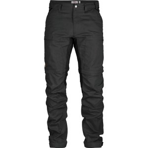 フェールラーベン カジュアル メンズ ボトムス Abisko Lite Trekking Zip-Off Trouser - Men's Dark Grey/Black|astyshop