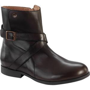 ビルケンシュトック ブーツ&レインブーツ レディース シューズ Collins Boot - Women's Dark Brown Leather astyshop