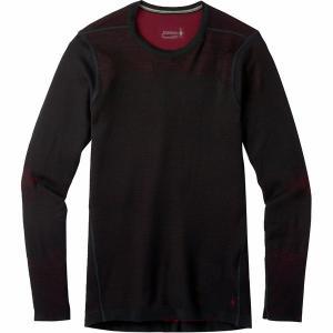 スマートウール Tシャツ メンズ トップス IntraKnit Merino 200 Crew Top - Men's Black/Tibetan Red astyshop