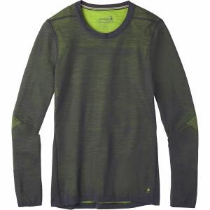 スマートウール Tシャツ メンズ トップス IntraKnit Merino 200 Crew Top - Men's Charcoal/Smartwool Green astyshop