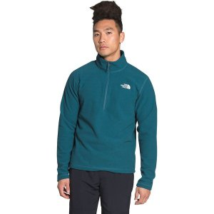 ノースフェイス ジャケット&ブルゾン メンズ アウター Textured Cap Rock 1/4-Zip Fleece Jacket - Men's Mallard Blue|astyshop