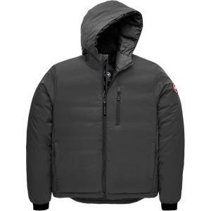 カナダグース ジャケット&ブルゾン メンズ アウター Lodge Matte Finish Down Hooded Jacket GRA|astyshop