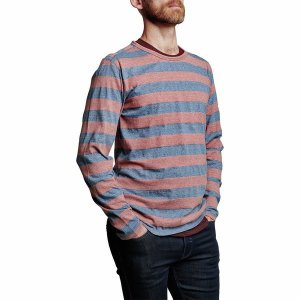 メリディアンライン ニット、セーター メンズ アウター Ashland Long-Sleeve Crew Sweatshirt - Men's Nautical Stripe|astyshop