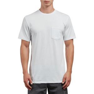 ボルコム シャツ メンズ トップス Heather Short-Sleeve Pocket T-Shirt - Men's White|astyshop