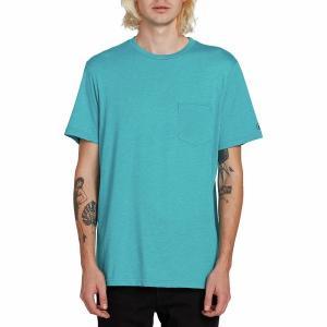 ボルコム Tシャツ メンズ トップス Heather Short-Sleeve Pocket T-Shirt - Men's Chlorine|astyshop