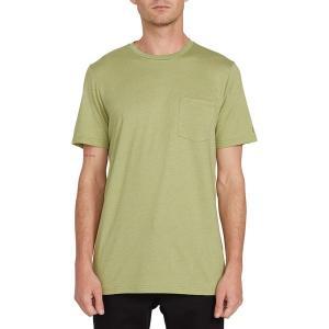 ボルコム シャツ メンズ トップス Heather Short-Sleeve Pocket T-Shirt - Men's Moss Stone|astyshop