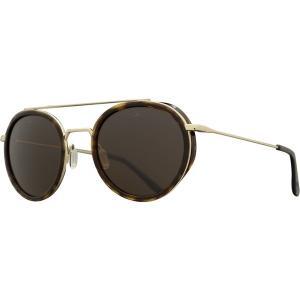 ヴュアルネ サングラス&アイウェア レディース アクセサリー Edge Round Sunglasses - Women's Tortoise/Gold/Pure Brown|astyshop
