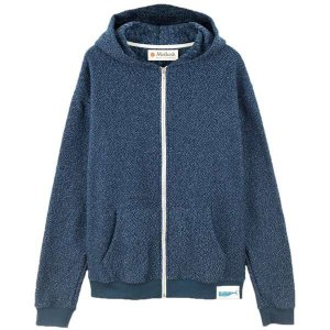 モラスク ニット、セーター メンズ アウター Whale Patch Zip Up Hoodie - Men's Navy Indigo|astyshop
