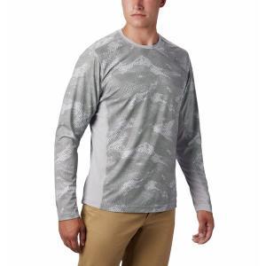 コロンビア シャツ メンズ トップス Solar Chill 2.0 Long-Sleeve Shirt - Men's Columbia Grey Mesh Print|astyshop