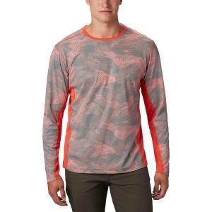 コロンビア シャツ メンズ トップス Solar Chill 2.0 Long-Sleeve Shirt - Men's Wildfire Mesh Print|astyshop